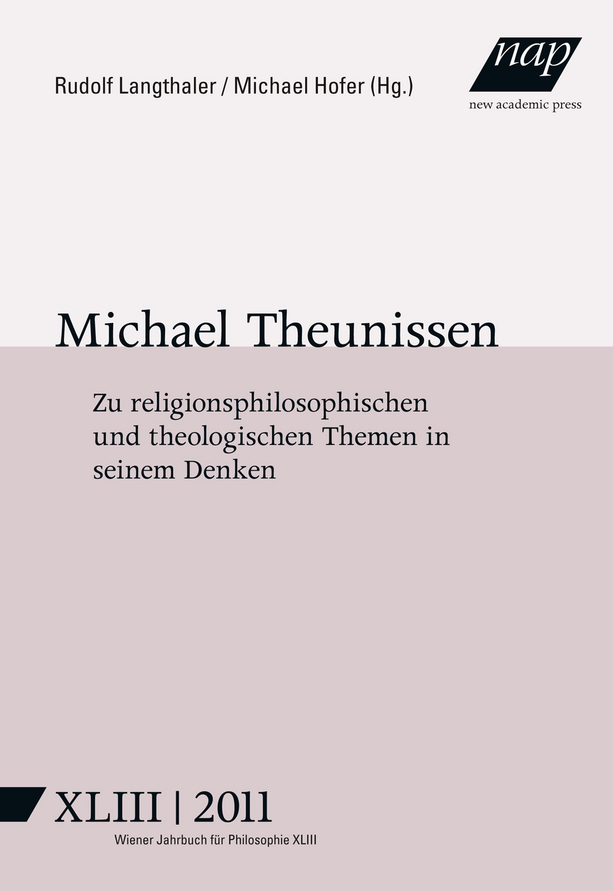 Cover Michael Theunissen Wiener Jahrbuch Philosophie Band 43© new academic press